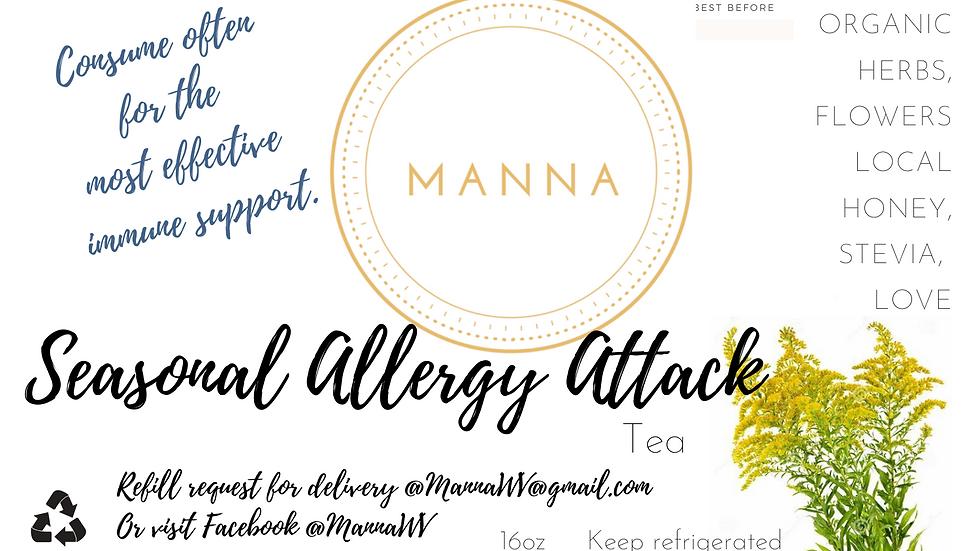 Seasonal Allergy Attack Tea - freshly bottled