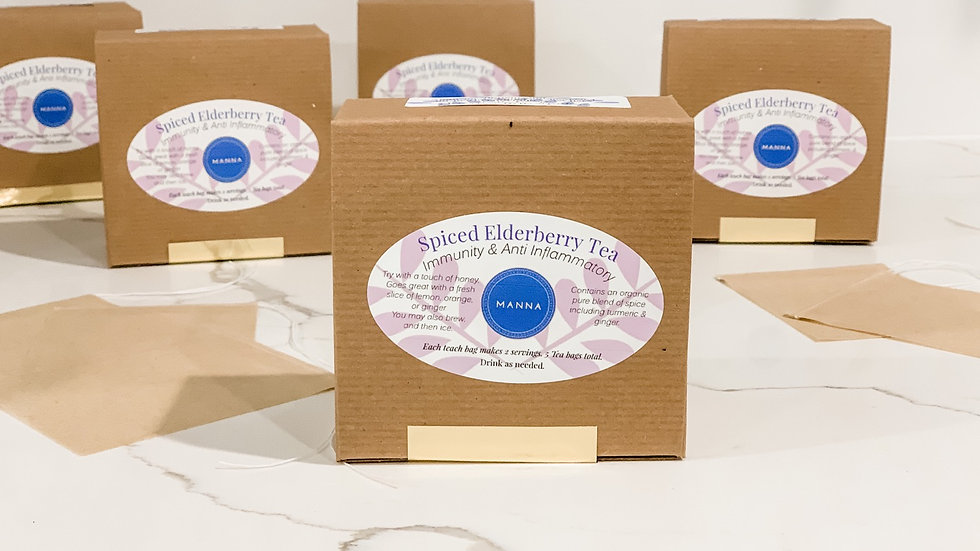 Elderberry Tea bags - dried tea & spice