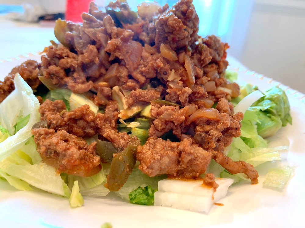 For this recipe I used ground turkey. However, I most often use ground venison.