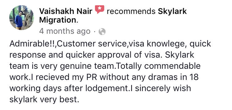 Vaishakh | Skylark Migration | Facebook Review