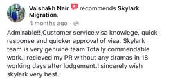 Vaishakh | Skylark Migration | Facebook Review