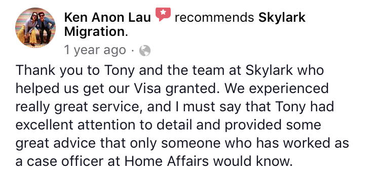 Ken | Skylark Migration | Facebook Review