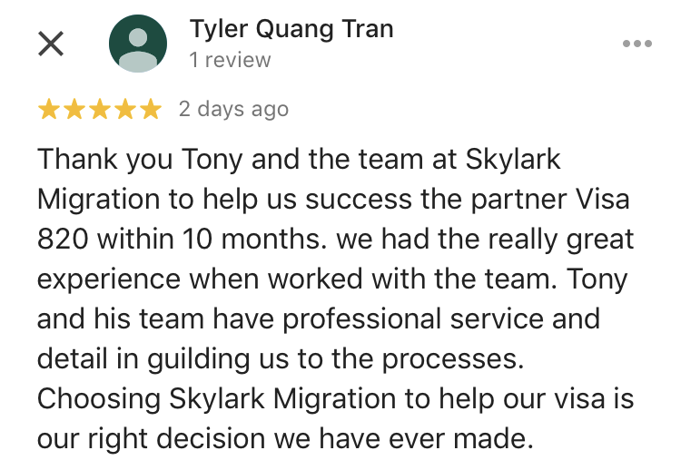 Tyler | Skylark Migration | Google Review