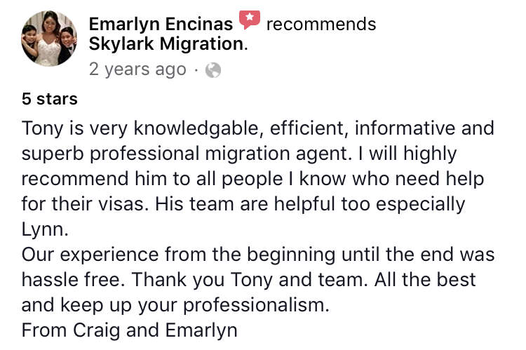 Emarlyn | Skylark Migration | Facebook Review