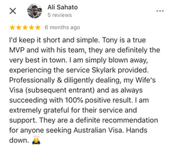 Ali | Skylark Migration | Google Review