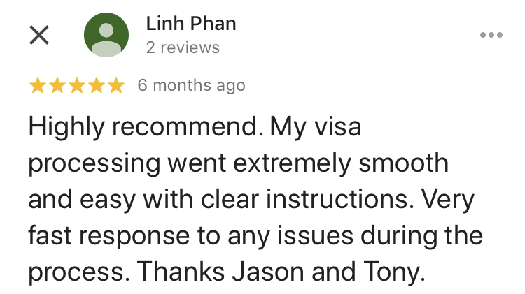Linh | Skylark Migration | Google Review