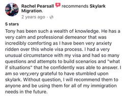 Rachel | Skylark Migration | Facebook Review