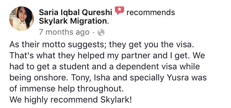 Saria | Skylark Migration | Facebook Review