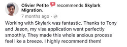 Olivier | Skylark Migration | Facebook Review