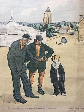 «Quelle honte !... Dix ans... et ça ne sait pas encore marcher sur les mains !»  Ricardo Florès, 1905