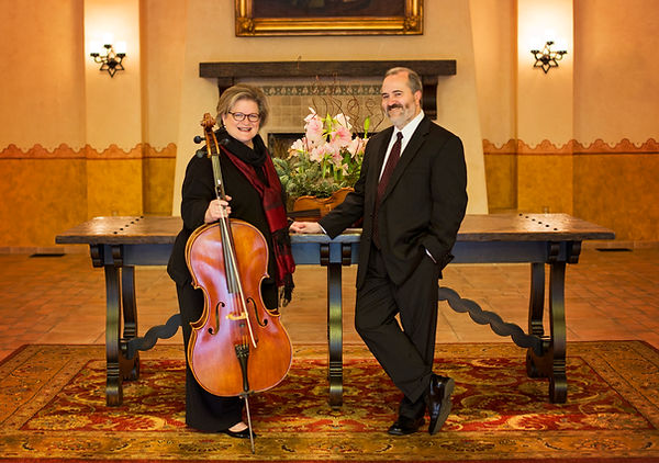 Trlla Ray-Carter, Monty Carter, cello, violin, viola, wedding music