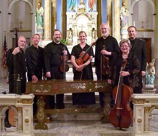 Trilla Ray-Carter, Baroque cello, Monty Carter, Baroque violin, Kansas City Baroque Consortium, Our Lady Of Sorrows
