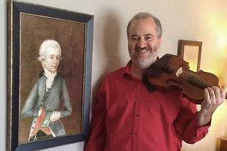 Monty Carter, Mozart image, violn, viola, music instruction