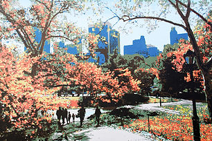 Central Park in the fall - New York pain