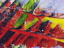 Crimson Dessert- Painting on canvas. Fra