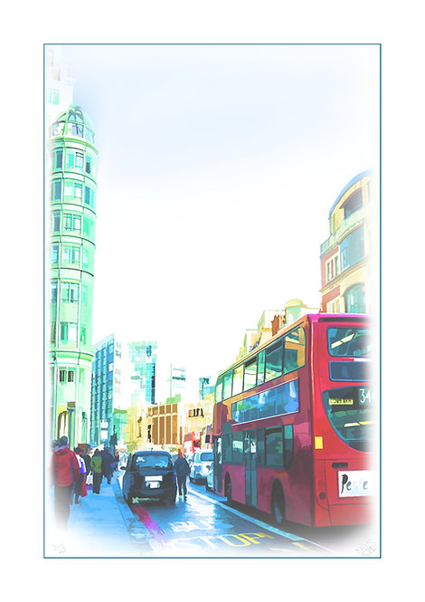 Bishops Gate, London Print by Kris Mercer. From a limited edition of 25. Fine Art Paper. All prints have a white border