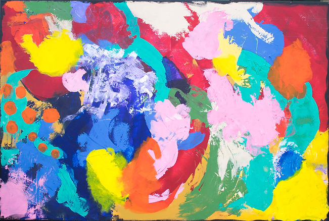 Back to Basics -2 Abstract painting on canvas, ready to hang wall art.jpg