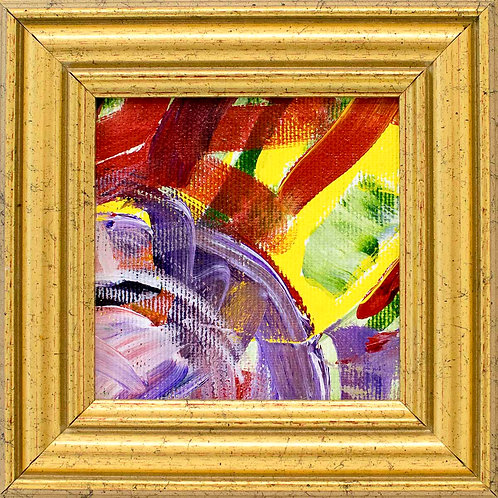 Small framed abstract painting - Morning has broken