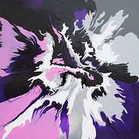Papio King - Abstract painting on canvas