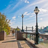 Riverside walk, northbank of the Thames.