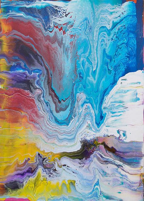 Blue Ice Mountain_50 x 70cm