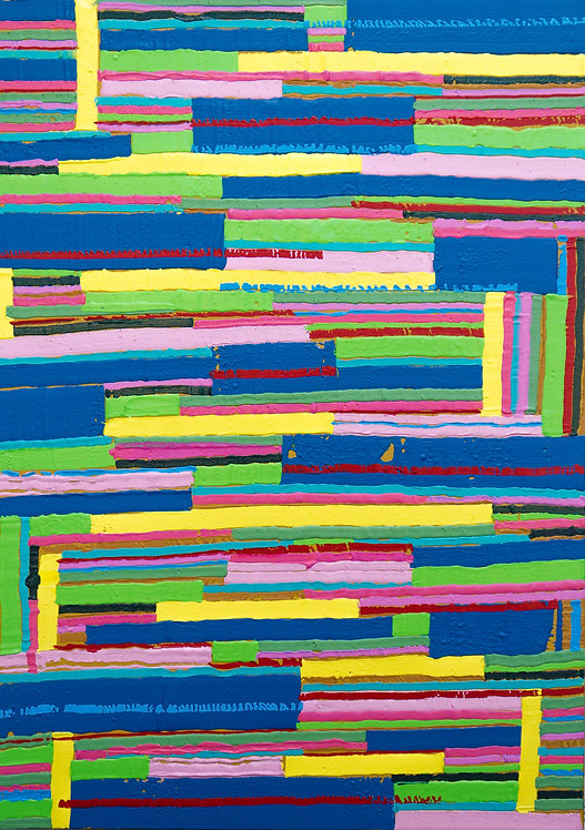 Smart Moves - Abstract Painting by Kris Mercer. Painting on Canvas. One of a kind artwork. Size: 50cm x 70cm x 5cm