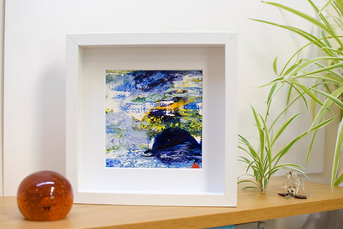 Having a whale of a time - Framed, ready to hang