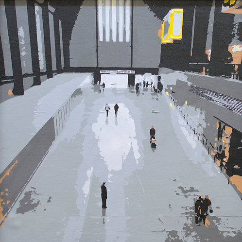 Turbine Hall 2 - London city painting - Tate Modern