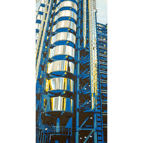 Lloyds of London in blue