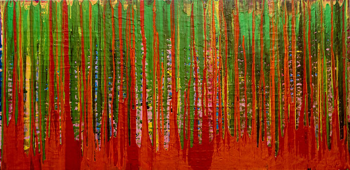 Forest of Dreams. Original Painting on canvas, ready to hang. 50cm x 100cm