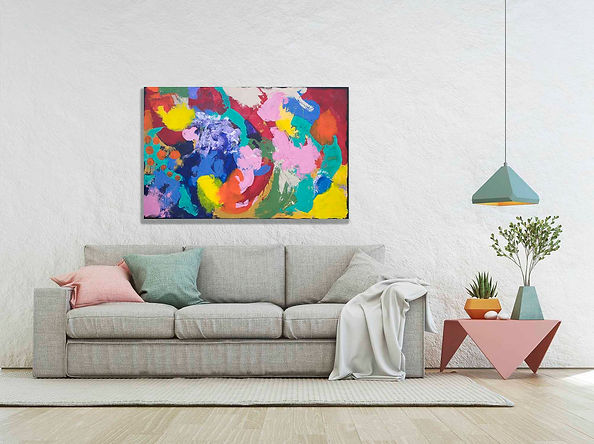 A_3-Abstract Painting on canvas, ready t