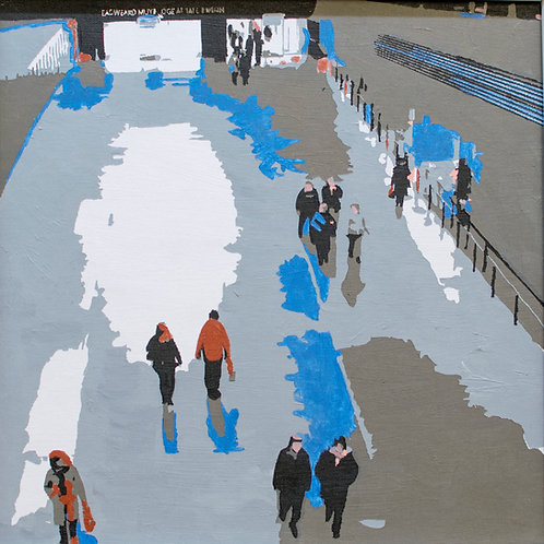 """Turbine Hall by Kris Mercer. Tate Modern Painting on Canvas board. Size: 12"""" x 12"""" ("""