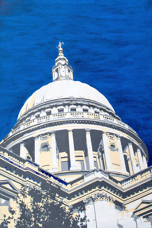 painting of St Paul's dome, London. UK