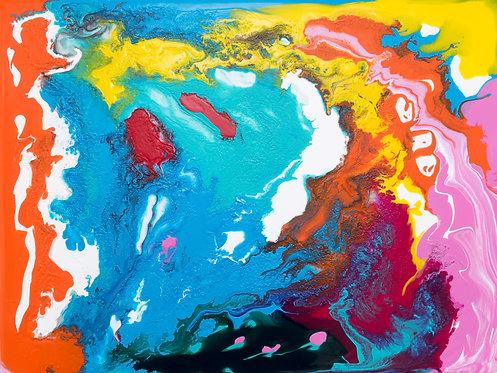 Happy Days - Painting by Kris Mercer. Acrylic Painting on Dibond Aluminium 40 x 30cm