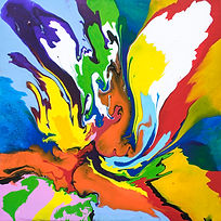 Discerningly Dynamic - Abstract painting