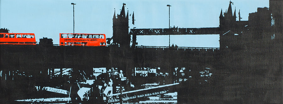 Tower bridge and London buses