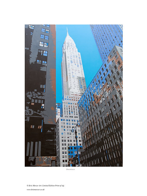Downtown Manhattan, New York Print by Kris Mercer. From a limited edition of 25. Fine Art Paper. Available in a black frame
