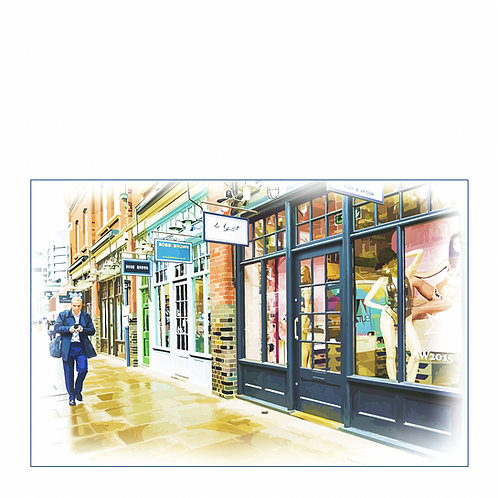 Ooh La La, London Print by Kris Mercer. From a limited edition of 25. Fine Art Pape.