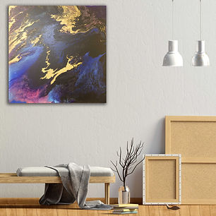 Leaping heart  - Abstract Painting. Wall