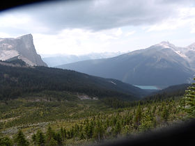 Emerald Lake and Mt Burgess