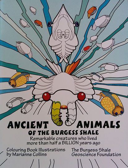 Ancient Animals of The Burgess Shale Colouring Book