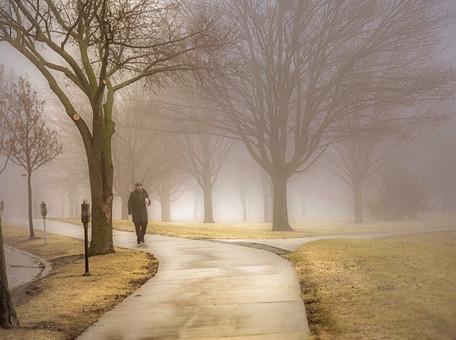 Foggy Downtown Milwaukee 2017