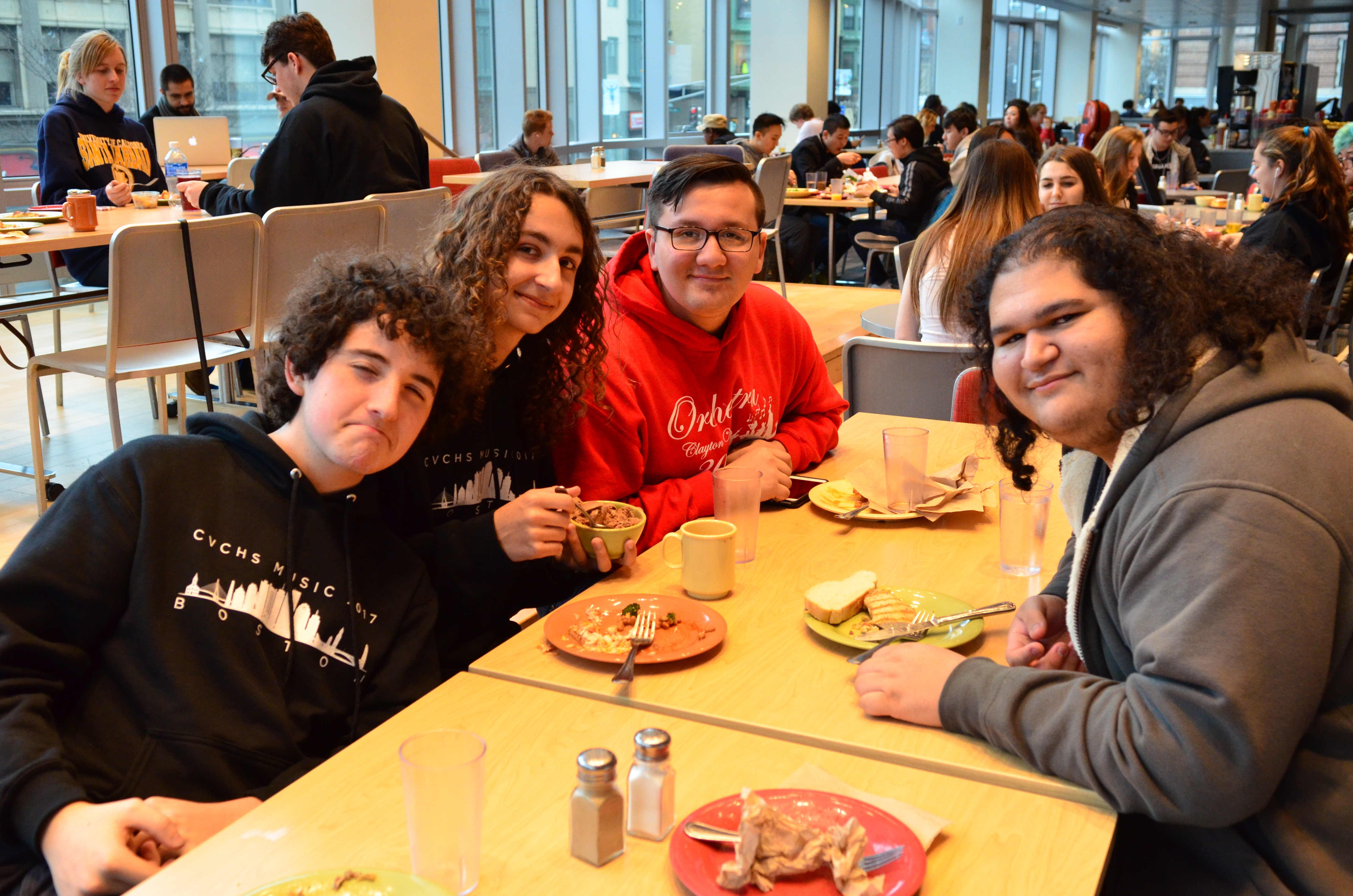 Dinner in the Berklee Dining Hall