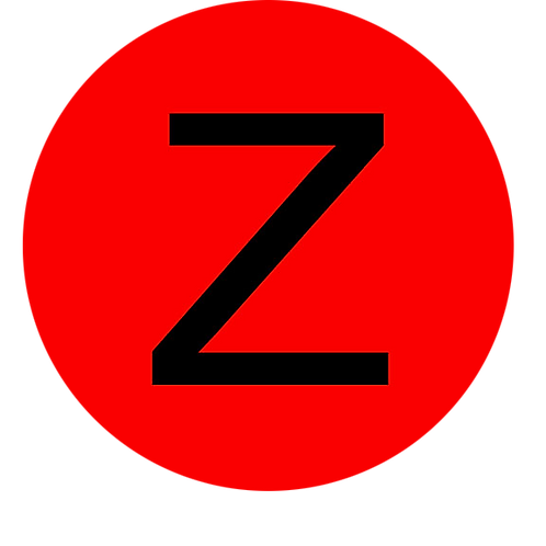 LETTER Z BLACK LARGE CIRCLE