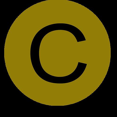 LETTER C BLACK LARGE CIRCLE