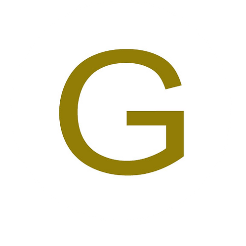 LETTER G GOLD LARGE CIRCLE