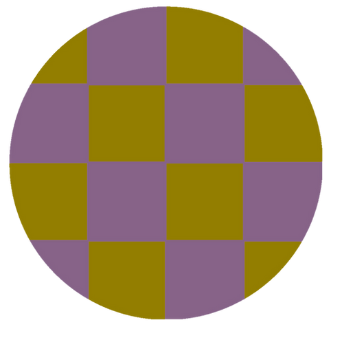 SMALL ROUND CHECKED GOLD BASE