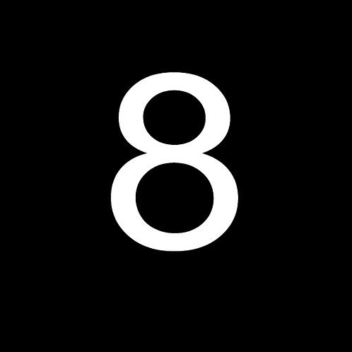 8 LARGE CIRCLE WHITE