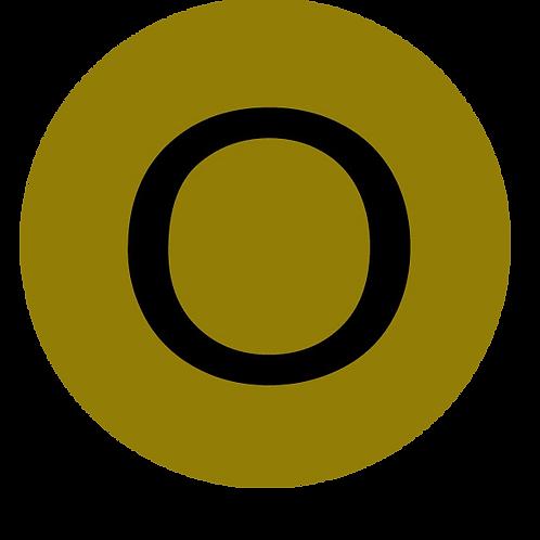 LETTER O BLACK LARGE CIRCLE