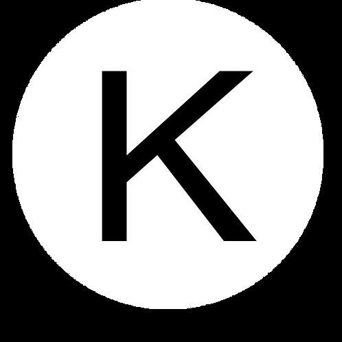 LETTER K BLACK LARGE CIRCLE